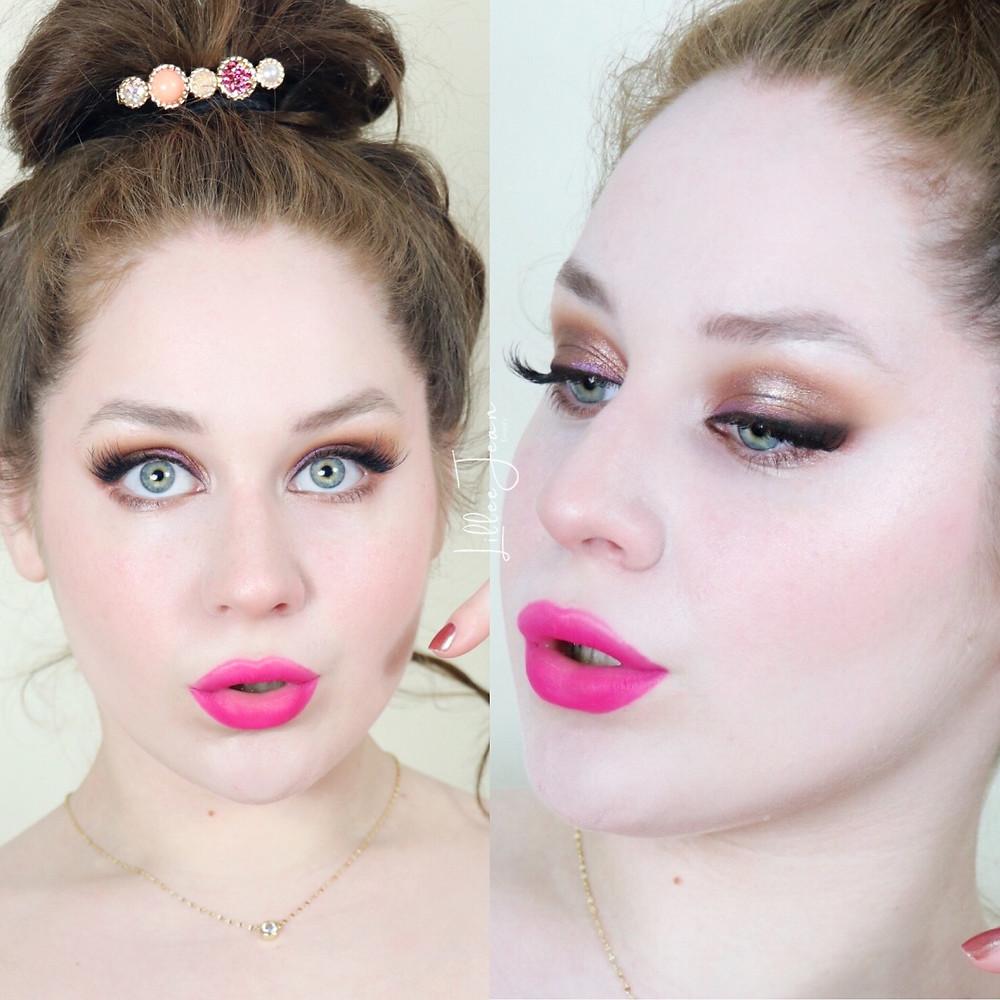 Urban Decay Wild West Pink Lipstick Makeup Tutorial 2021   Lillee Jean