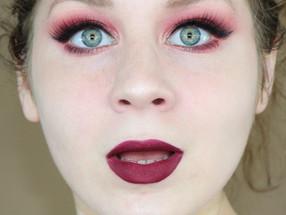 Revolution Precious Stones Ruby Palette Burgundy Fall Makeup Tutorial   Lillee Jean
