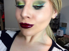 Power Puff Girls: Shimmery Green and Vampy Purple Buttercupcake Makeup Tutorial