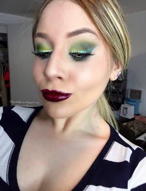 PowerPuff Girls: Shimmery Green and Vampy Purple Buttercupcake Makeup Tutorial 2016   Lillee Jean