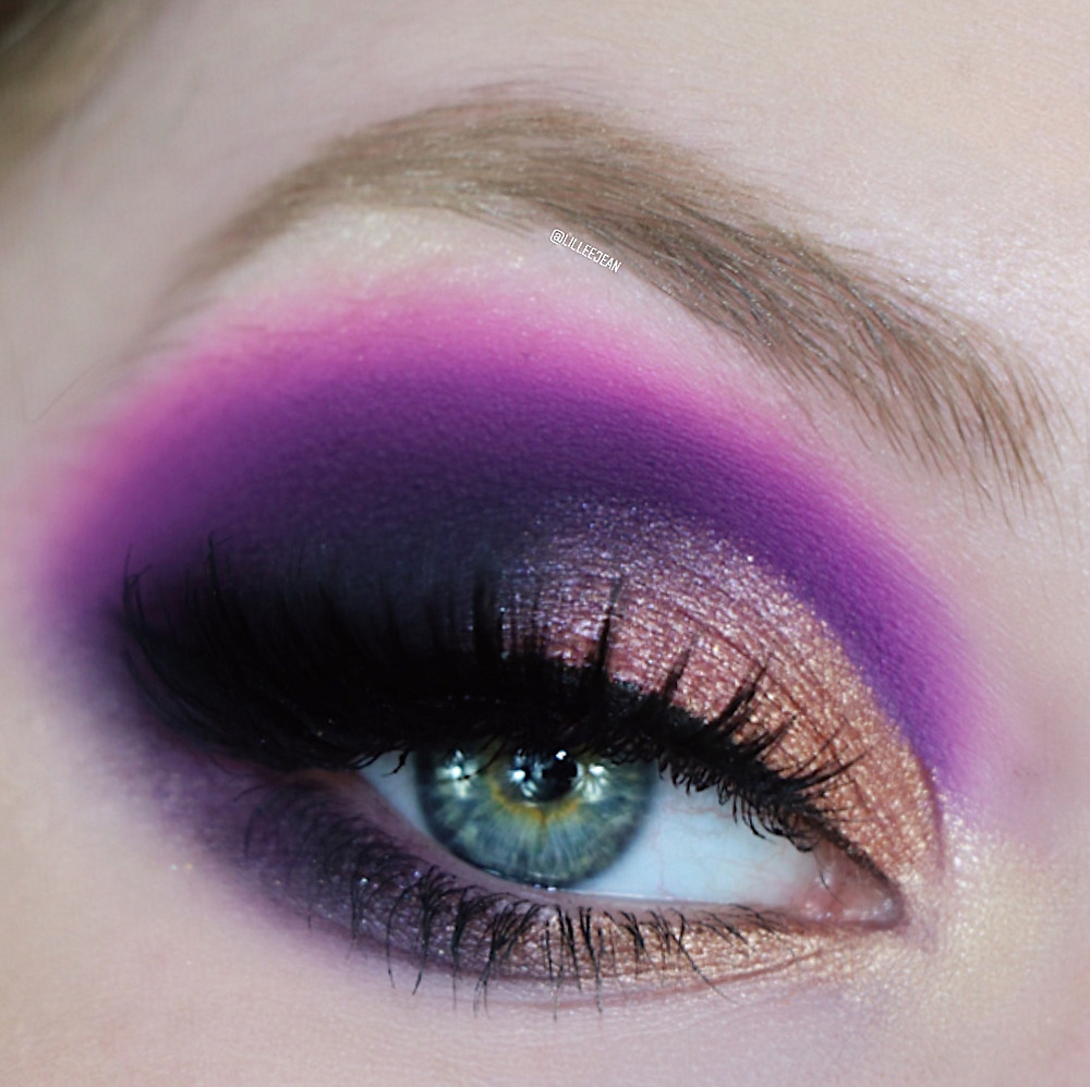 Karity Gold and Purple Dramatic Makeup Tutorial 2020 | Lillee Jean