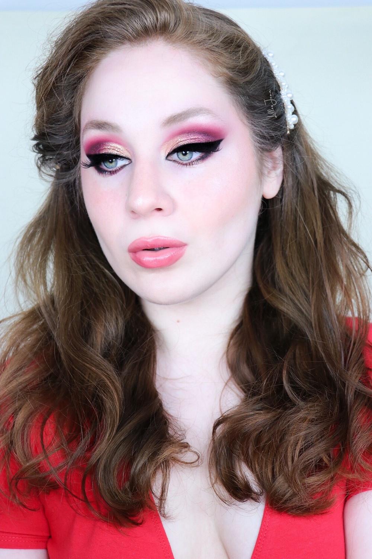 Golden Red Eyeshadow Makeup Tutorial   Nyx Ultimate Edit Phoenix 2021   Lillee Jean
