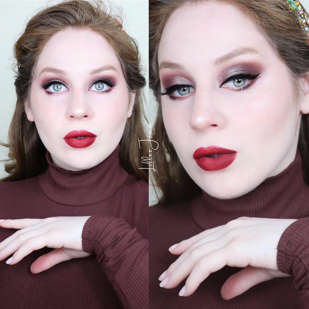 Vampy Autumn Makeup | Urban Decay + RED LIPSTICK Tutorial 2021 | Lillee Jean