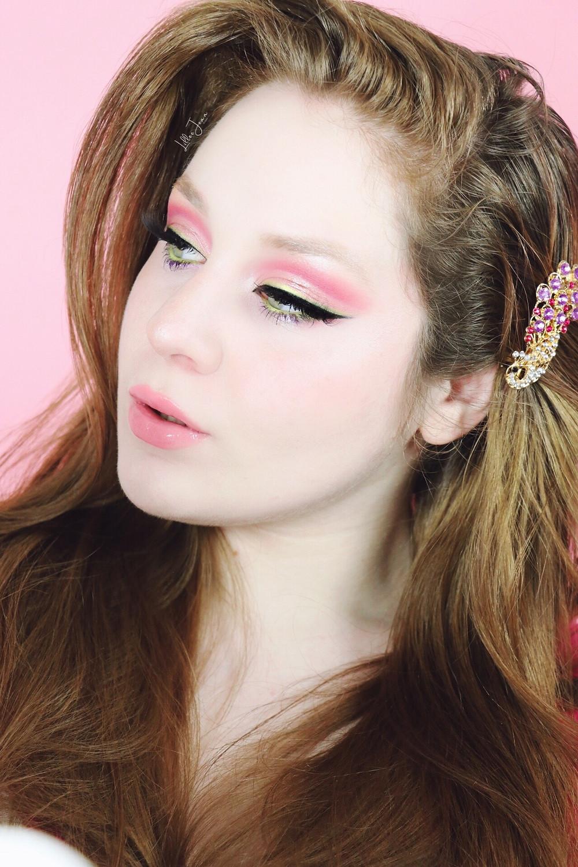 L.A. Girl Desert Dream Spring Pink and Green Eyeliner Makeup Tutorial 2021 | Lillee Jean