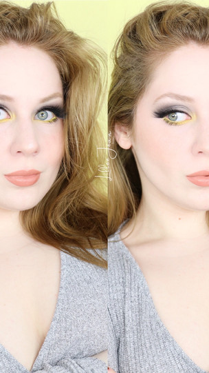 Pantone 2021 COLOR OF THE YEAR Grey and Yellow Makeup Tutorial   Lillee Jean