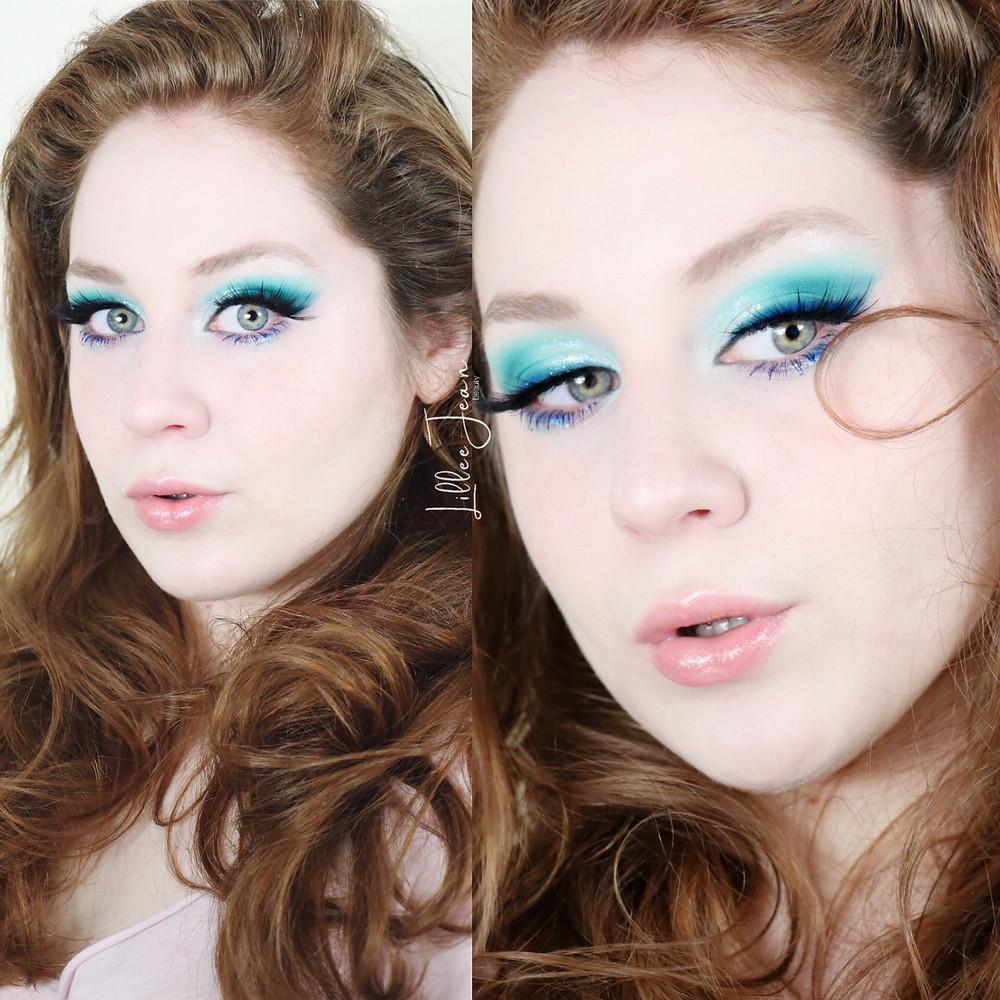 Revolution Birds of Paradise Teal Blue Makeup Tutorial 2021 | Lillee Jean