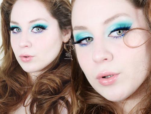 Revolution Birds of Paradise Teal Blue Makeup Tutorial 2021   Lillee Jean