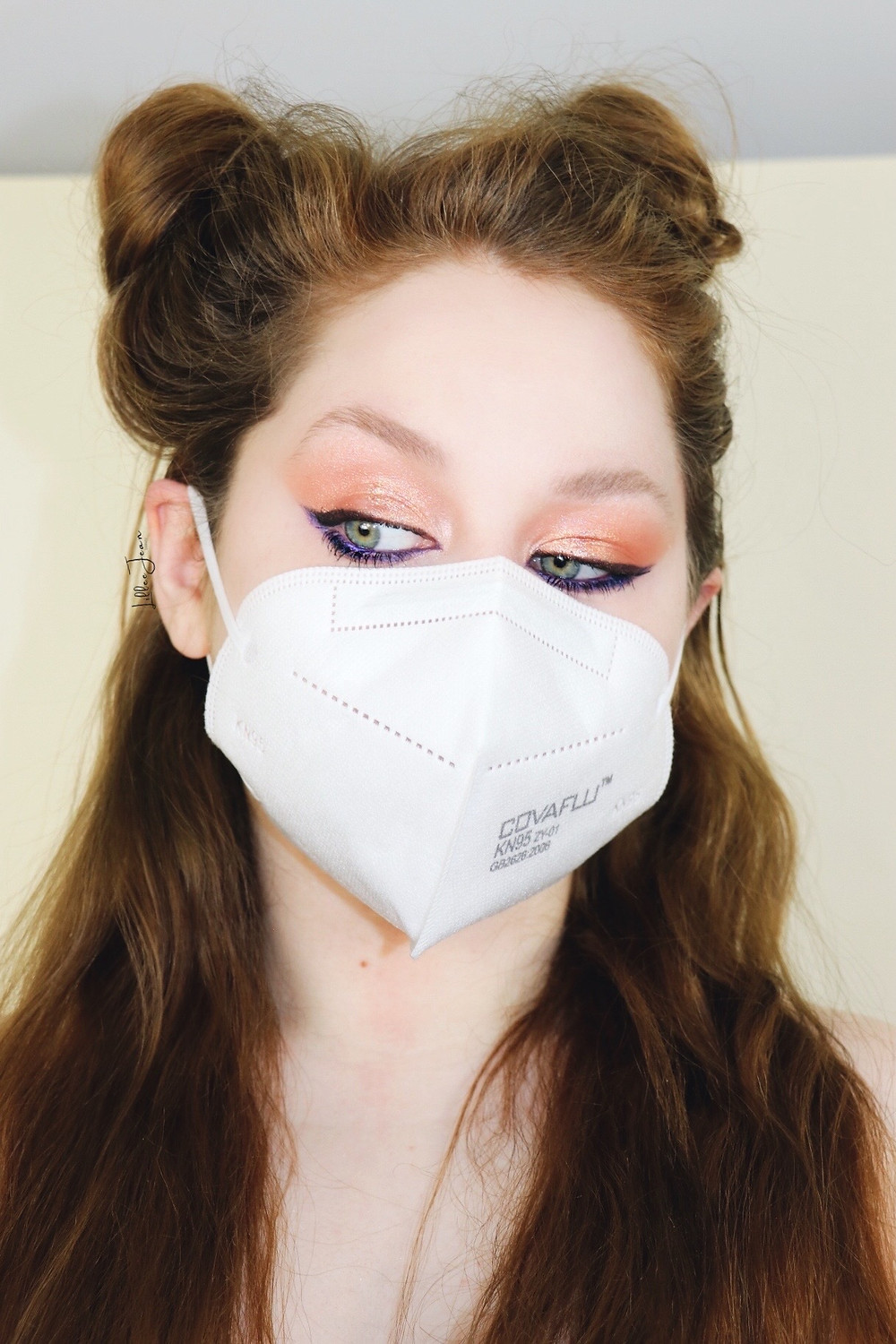 Pop Of Color Masked Makeup by Lillee Jean