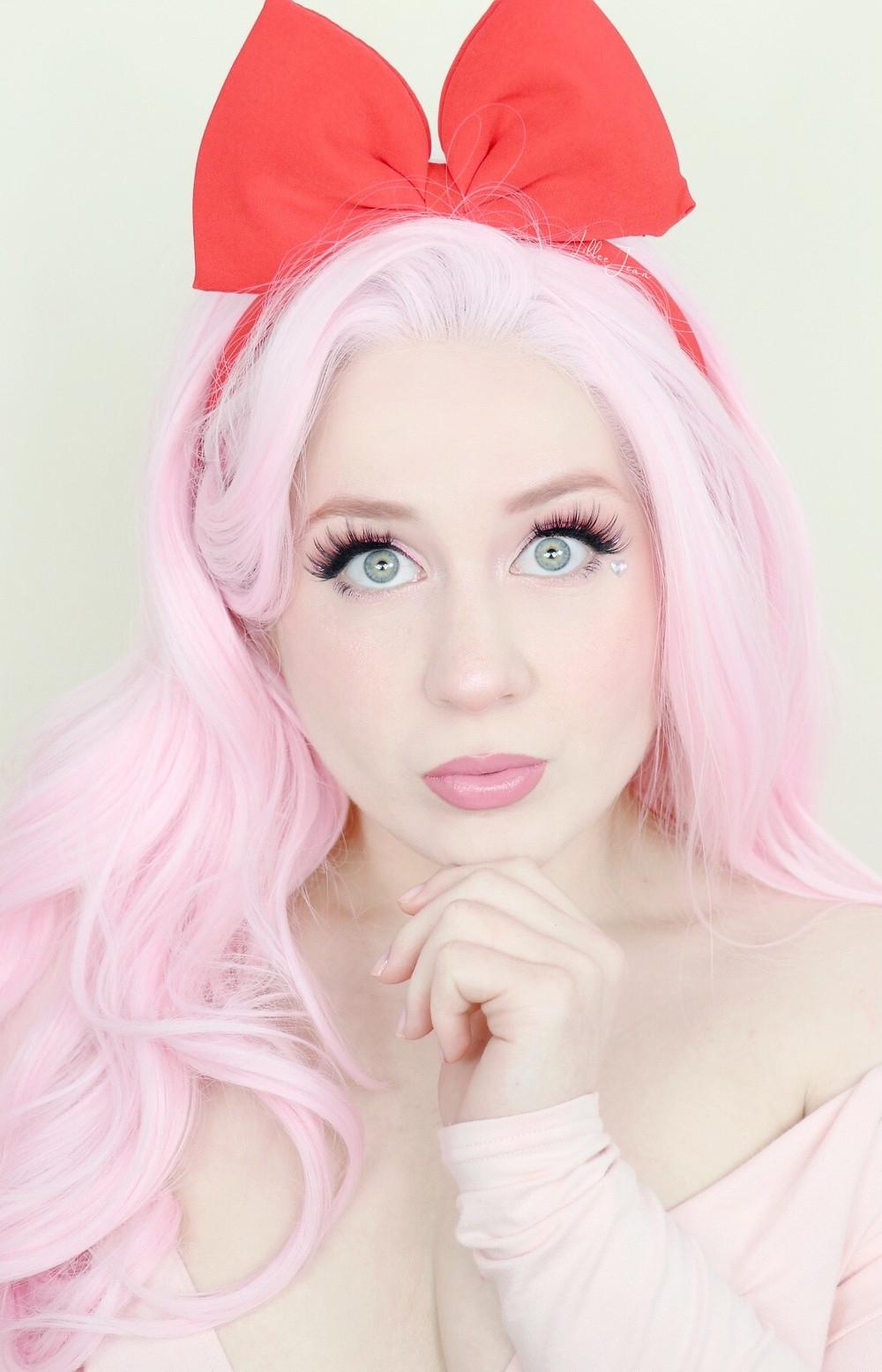NINTENDO Kirby Tarte LIL' JUICY Wearable Pink Rhinestone Makeup Tutorial 2021 | Lillee Jean