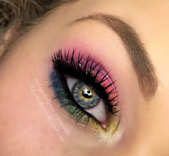 Rainbow Eyeshadow Makeup Tutorial 2015   Lillee Jean