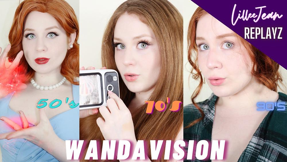 Lillee Jean Compilation | Disney+ Wandavision Makeup Tutorial's | 50's, 70's, 90's