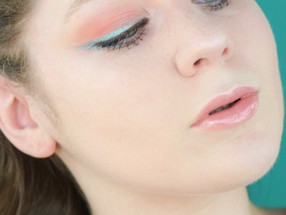 Teal and Coral Pop Of Color Summer Makeup Tutorial