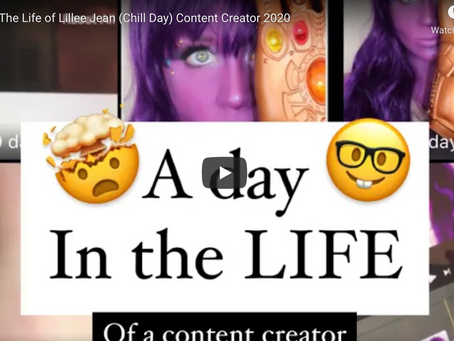 A Day In The Life of Lillee Jean (Chill Day) Content Creator 2020