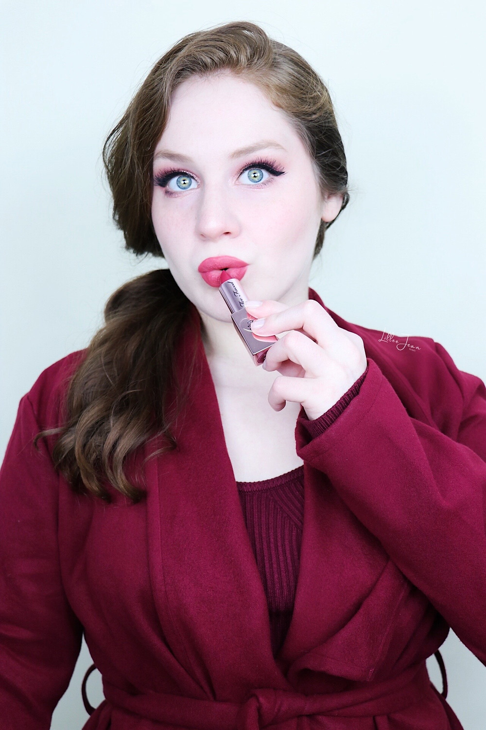 Rose Makeup   Too Faced Lady Bold REBEL   AUTUMN Tutorial 2021   Lillee Jean