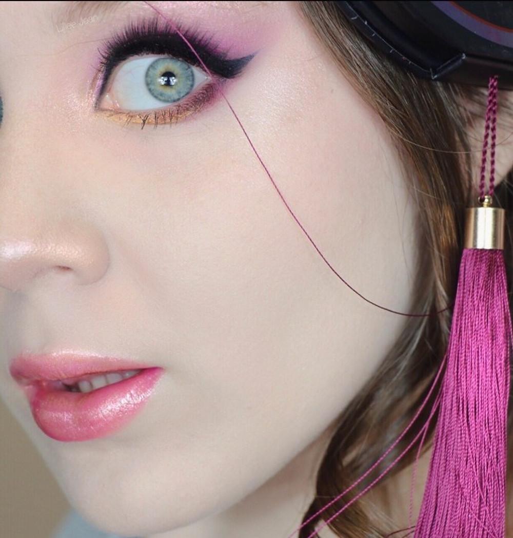Kesha Rose Beauty Glittery Purple Smokey Eye Makeup Tutorial | Lillee Jean