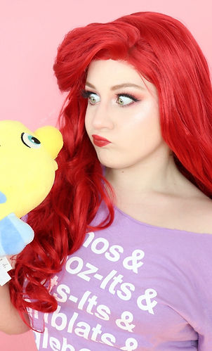 Lillee Jean as Ariel The Little Mermaid Disney Princess with Flounder 2020