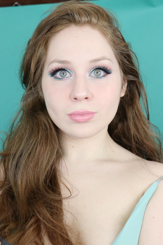 Huda Beauty Mercury Retrograde Neon Teal Makeup Tutorial 2020   Lillee Jean