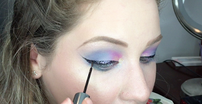 Pastel Glittery Cotton Candy Wearable Unicorn Makeup Tutorial 2016 | Lillee Jean