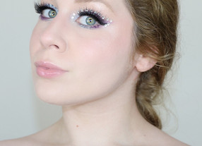 EUPHORIA Inspired RHINESTONE HUDA BEAUTY Purple Makeup Tutorial 2020 | Lillee Jean