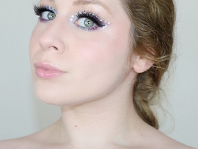 EUPHORIA Inspired RHINESTONE HUDA BEAUTY Purple Makeup Tutorial 2020 | Lillee Jean