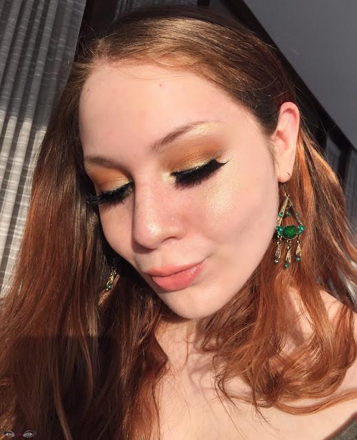 Saint Patricks Day Golden Makeup Look W/ Pop of Green 2017 | Lillee Jean
