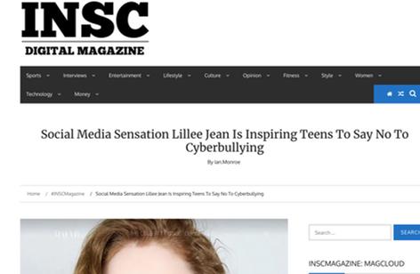 INSC Digital Magazine Lillee Jean Is In