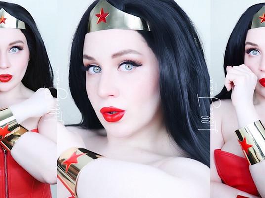 Wonder Woman HALLOWEEN Makeup Tutorial | LADY BOLD Red Lipstick Glam 2021 | Lillee Jean