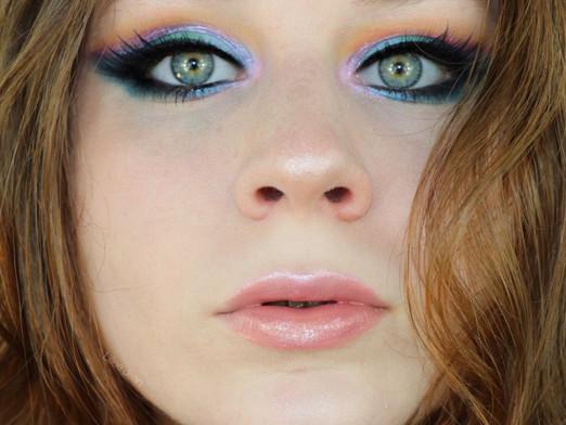 Colourpop Teal, Green, Purple, and Orange Vibrant Makeup Tutorial