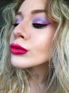 Pastel Lilac Smokey Eye With Vibrant Pink Eyeliner Easter Makeup Tutorial 2016 | Lillee Jean