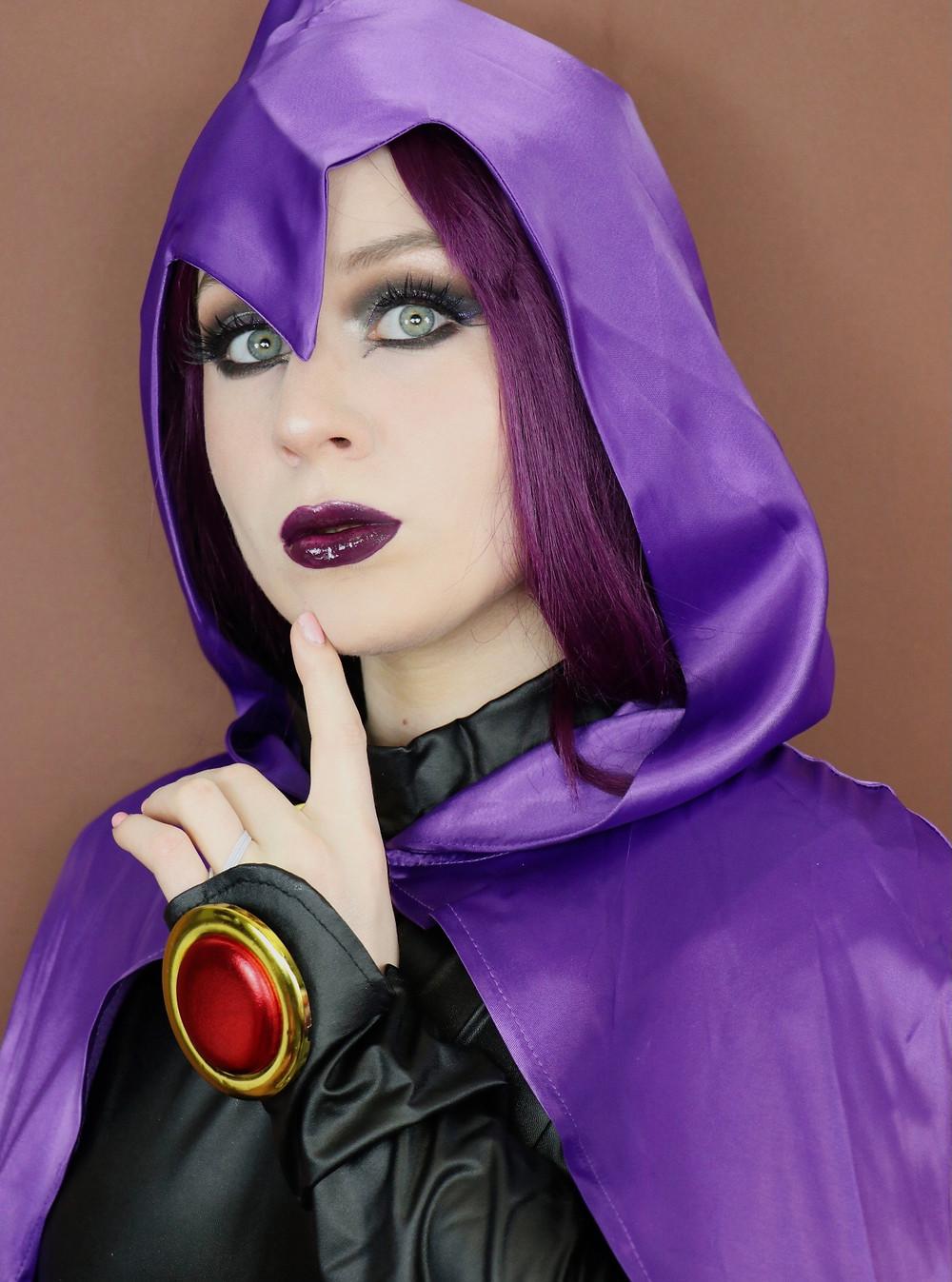 Teen Titans Raven Makeup Tutorial DC Comics Cosplay 2020 | Lillee Jean