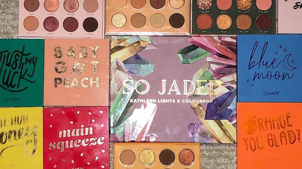 Kathleenlights X Colourpop So Jaded COMPARISON SWATCHES | Lillee Jean