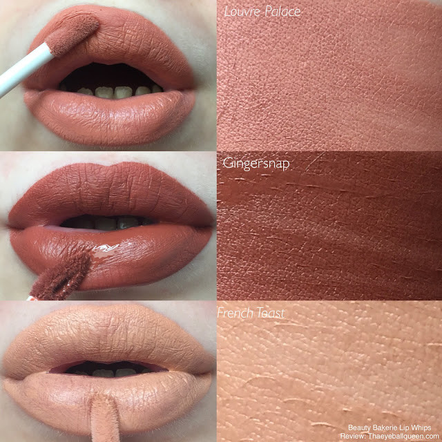 Beauty Bakerie Lip Whips Review/Swatches (Gingersnap, French Toast, Louvre Palace) | Lillee Jean