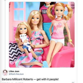 Lillee Jean's VIRAL Barbie 2018 Tweet Reshared