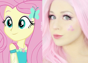 FLUTTERSHY My Little Pony Cosplay Makeup Tutorial Halloween 2020 | Equestria Girls | Lillee Jean