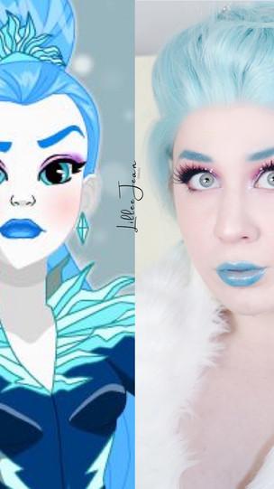 DC Super Hero Girls Killer Frost Essence Crystal Iced Makeup Tutorial 2021 | Lillee Jean
