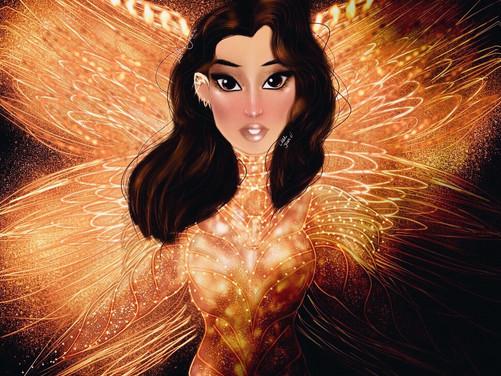 Wonder Woman 1984 GAL GADOT GOLD ASTERIA Digital Speed Painting PROCREATE 2021 | Lillee Jean
