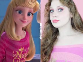 Sleeping Beauty Wreck-It Ralph 2 Comfy Princess Makeup Tutorial Disney Cosplay 2020 | Lillee Jean