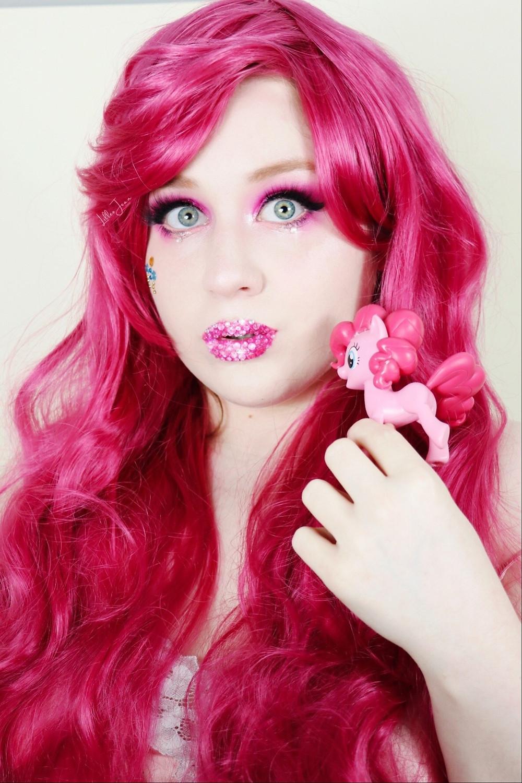 Pinkie Pie My Little Pony Makeup Tutorial | PINK RHINESTONES 2021 | Lillee Jean