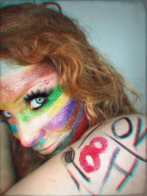 Glittering Rainbow Flag Makeup Tutorial 2016