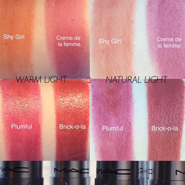 Top 4 Mac Autumn Lipsticks Swatches 2016   Lillee Jean