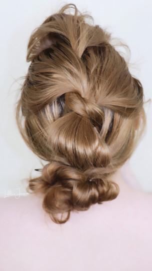 EASY Pull Through Voluminous BUN Hairstyle Tutorial 2021   Lillee Jean