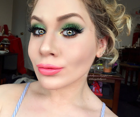 Saint Patricks Day Pot O' Gold Glittery Green Makeup Tutorial 2016   Lillee Jean