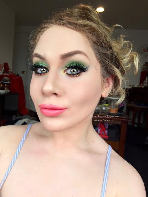 Saint Patricks Day Pot O' Gold Glittery Green Makeup Tutorial 2016 | Lillee Jean