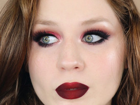 Vampy Red Valentines Day Makeup Tutorial GRWM 2020   Lillee Jean