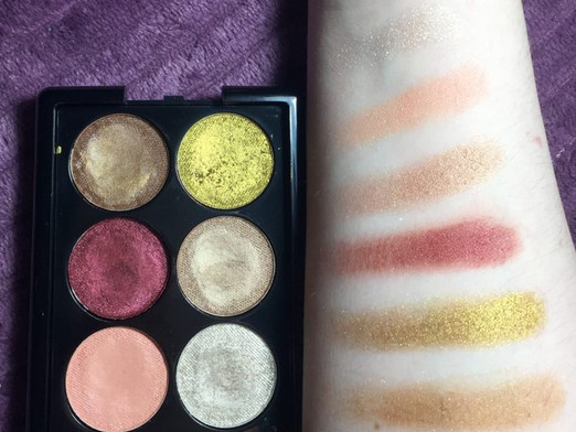 E.L.F. Cosmetics Aqua Beauty Velvet Touch Eyeshadow Palette in Island Breeze Review and Swatches