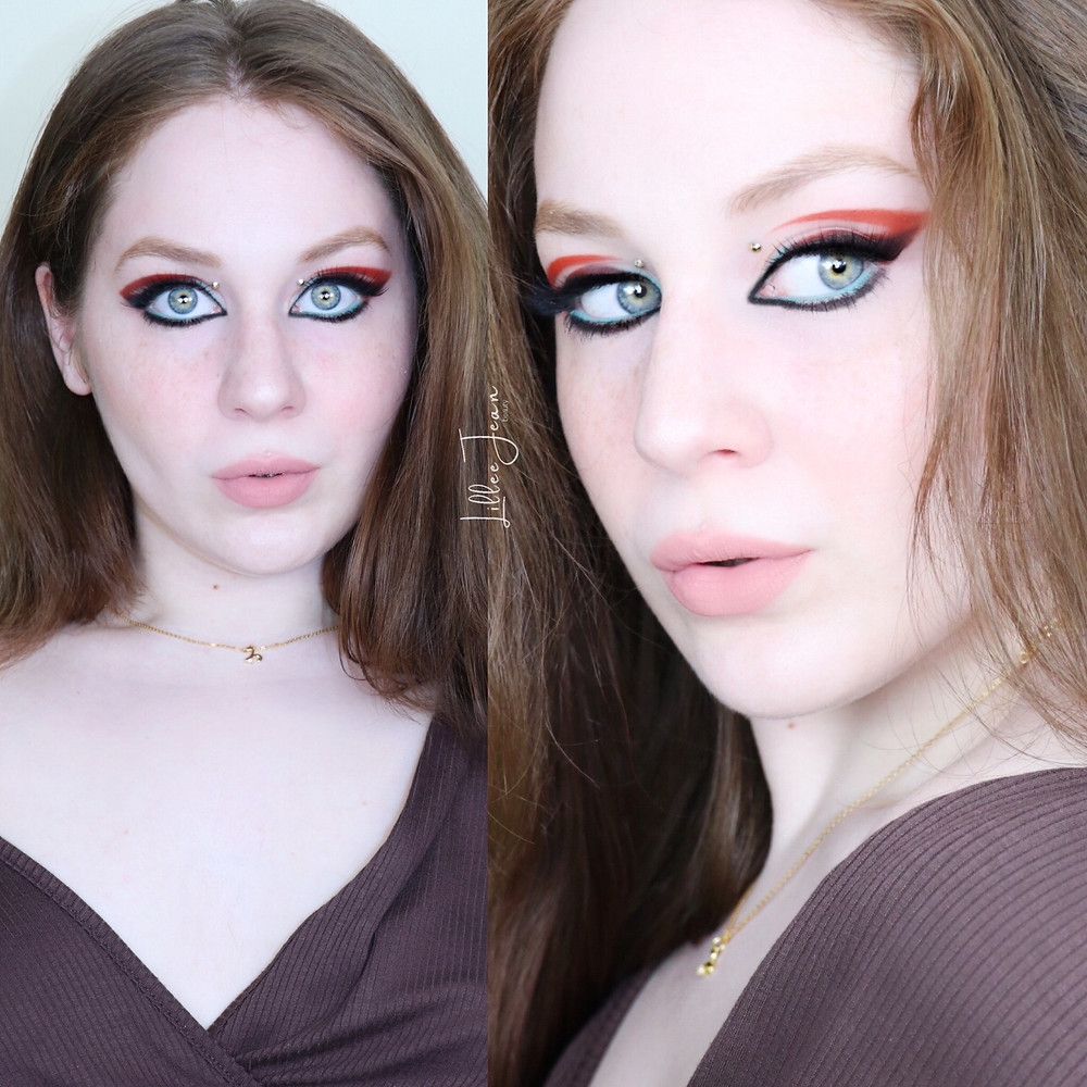 Too Faced Killer Liner Autumn Abstract Eye Makeup Tutorial 2021   Lillee Jean