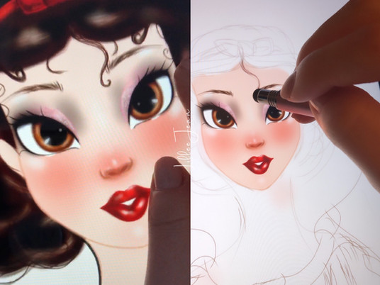 Lillee Jean Art - Snow White Digital Painting Vlog 2021