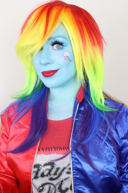 Rainbow Dash cosplay makeup