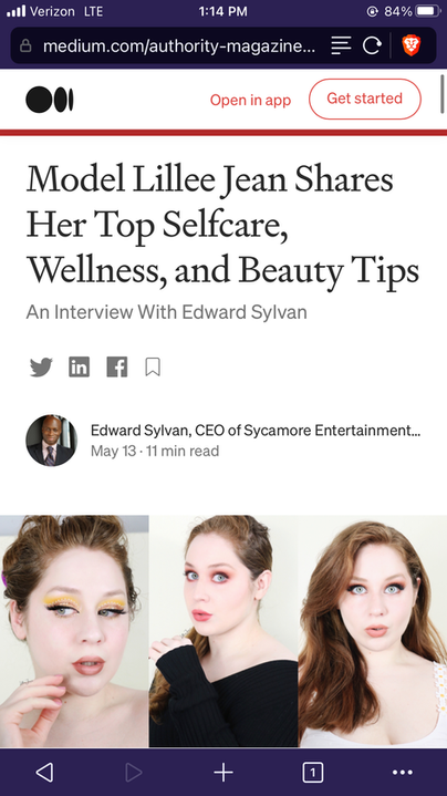 Model Lillee Jean Shares Her Top Selfcare Tips MEDIUM Article