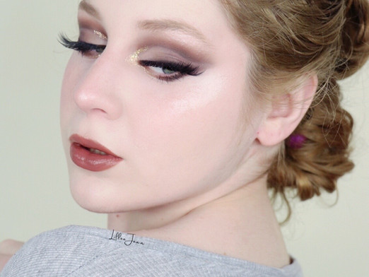 Bobbi Brown Nude Drama II Brown Cut Crease thanksgiving Glitter Makeup Tutorial 2020 | Lillee Jean